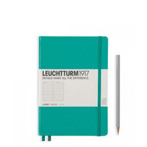 Блокнот Leuchtturm1917 середній, смарагдовий, лінія
