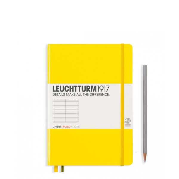Блокнот Leuchtturm1917 середній, лимонний, лінія