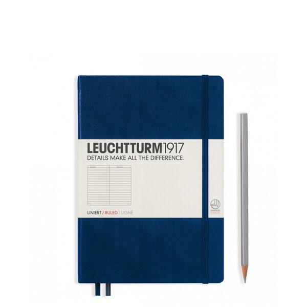 Блокнот Leuchtturm1917 середній, темно-синій, лінія