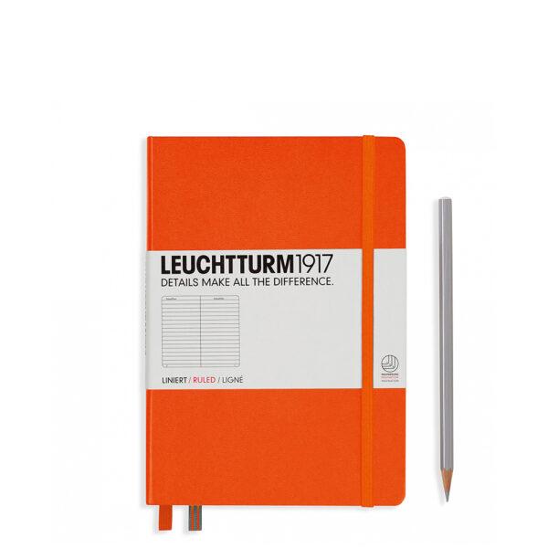 Блокнот Leuchtturm1917 середній, помаранчевий, лінія