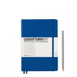 Блокнот Leuchtturm1917 середній, королівський синій, лінія