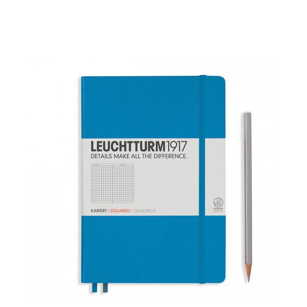 Блокнот Leuchtturm1917 середній, лазурний, клітинка