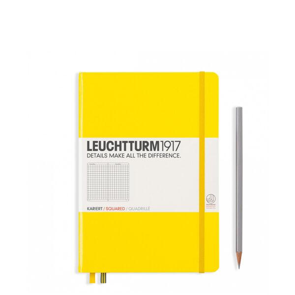 Блокнот Leuchtturm1917 середній, лимонний, клітинка