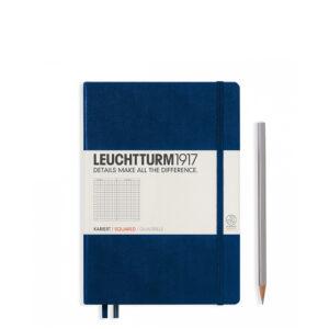 Блокнот Leuchtturm1917 середній, темно-синій, клітинка