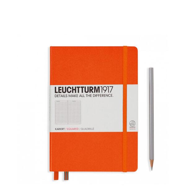 Блокнот Leuchtturm1917 середній, помаранчевий, клітинка