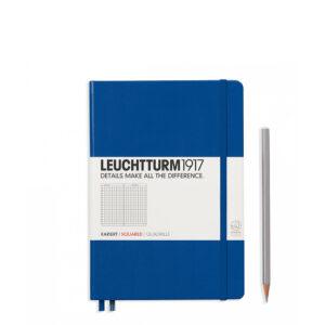 Блокнот Leuchtturm1917 середній, королівський синій, клітинка