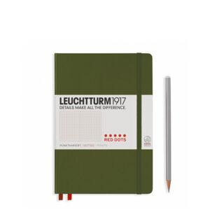 Блокнот Leuchtturm1917 середній, Red Dots, хакі