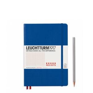 Блокнот Leuchtturm1917 середній, Red Dots, королівський синій