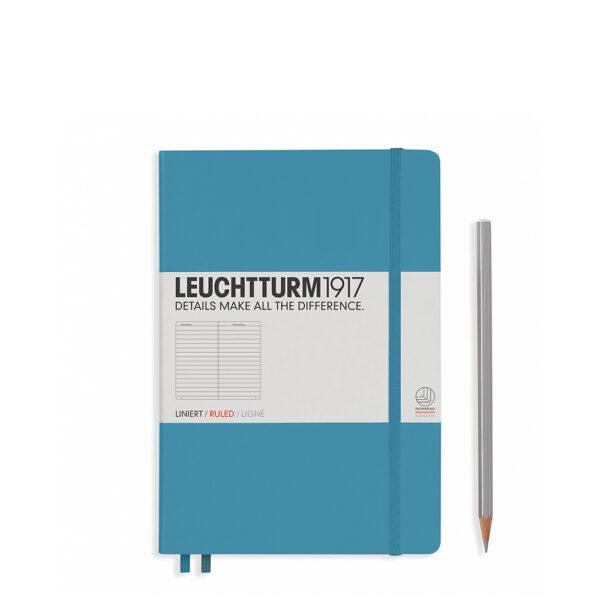 Блокнот Leuchtturm1917 середній, холодний синій, лінія