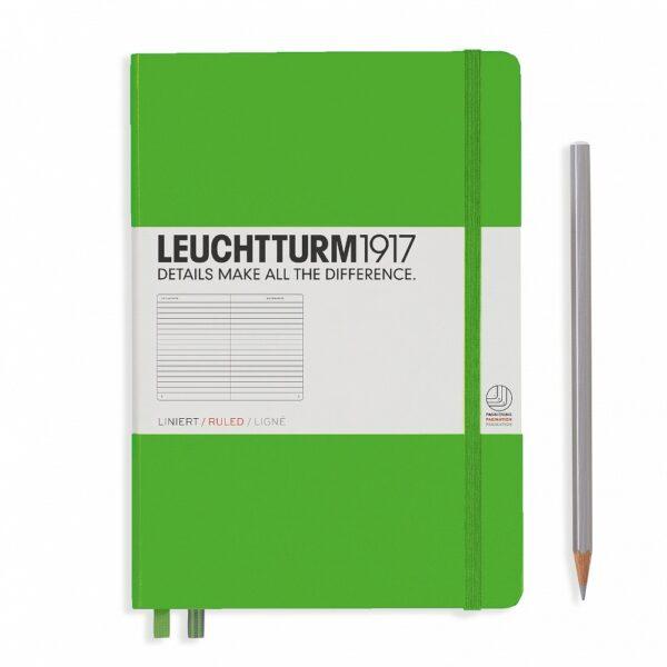 Блокнот Leuchtturm1917 середній, свіжий зелений, лінія