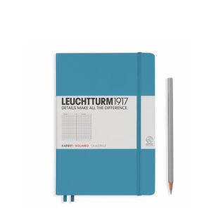 Блокнот Leuchtturm1917 середній, холодний синій, клітинка