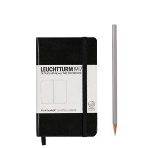 Блокнот Leuchtturm1917 кишеньковий, чорний, крапка