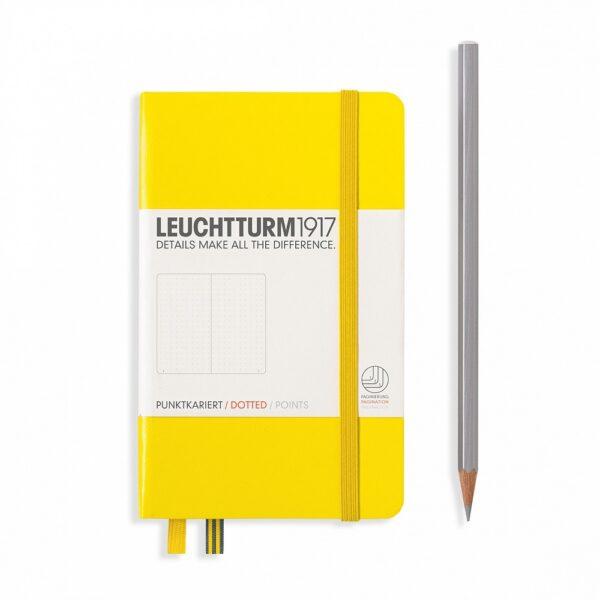 Блокнот Leuchtturm1917 кишеньковий, лимонний, крапка