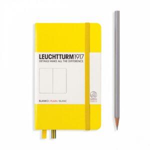 Блокнот Leuchtturm1917 кишеньковий, лимонний, чисті аркуші