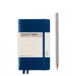 Блокнот Leuchtturm1917 кишеньковий, темно-синій, чисті аркуші