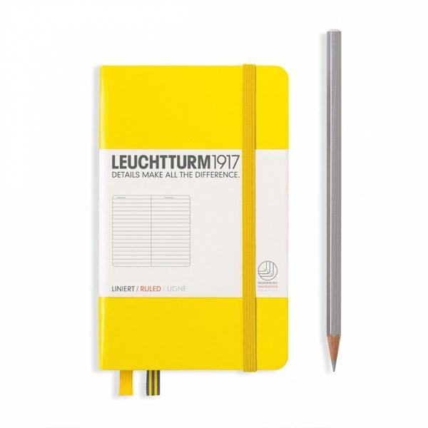 Блокнот Leuchtturm1917 кишеньковий, лимонний, лінія