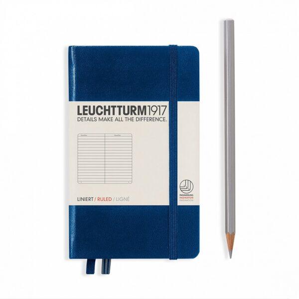 Блокнот Leuchtturm1917 кишеньковий, темно-синій, лінія