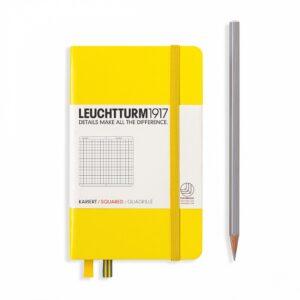 Блокнот Leuchtturm1917 кишеньковий, лимонний, клітинка