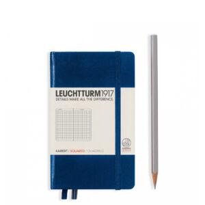 Блокнот Leuchtturm1917 кишеньковий, темно-синій, клітинка