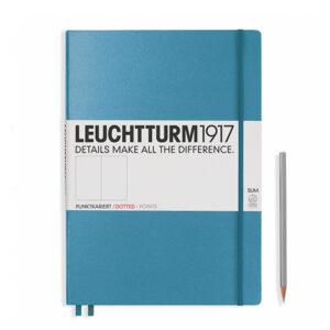 Блокнот Leuchtturm1917 Master Slim A4+, холодний синій, крапка
