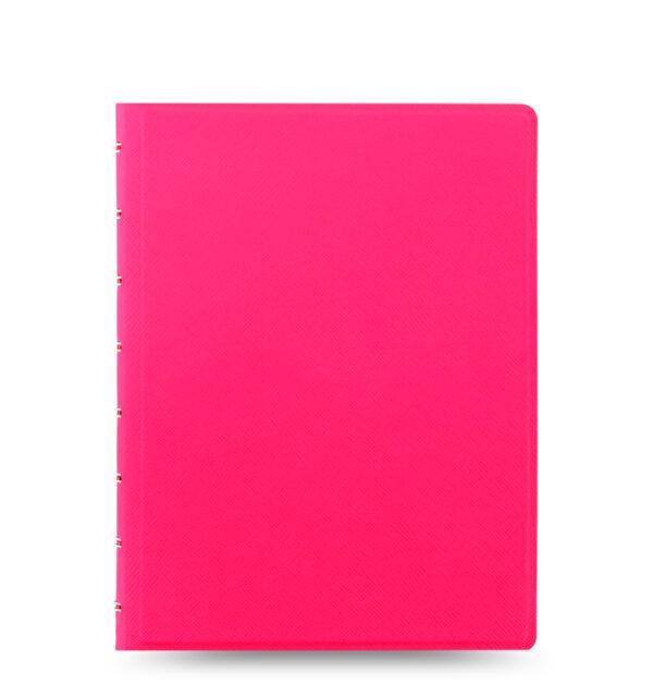 Блокнот Filofax Saffiano середній, fluoro pink