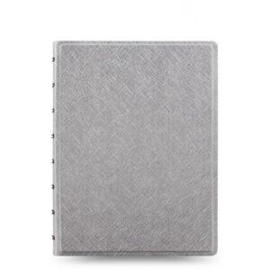 Блокнот Filofax Saffiano середній, metallic silver