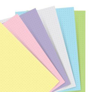 Бланки в крапку до органайзеру Filofax, Personal, pastel