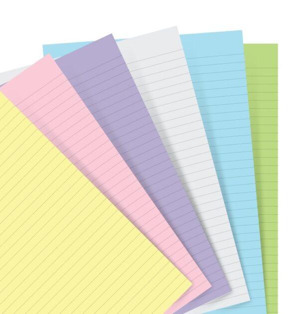 Бланки в лінію до органайзеру Filofax, Personal, pastel
