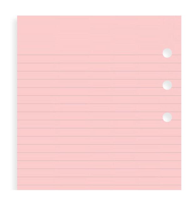 Бланки в лінію Filofax, Personal, рожеві