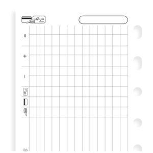 Бланки Filofax Фінанси, Pocket, white