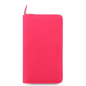 Органайзер Filofax Saffiano Compact zip, Fluoro Pink