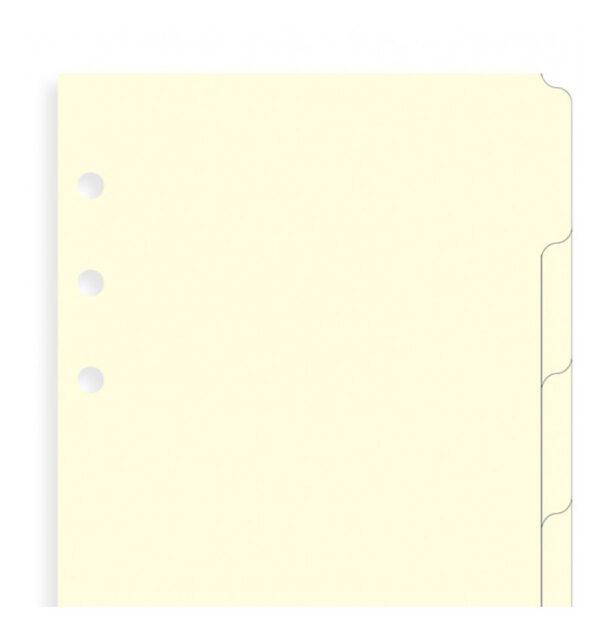Розділювачі універсальні Filofax, Personal, cream