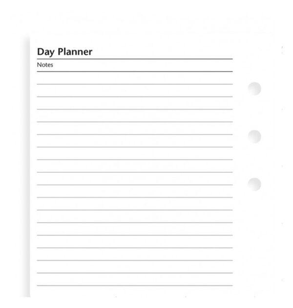 Бланки План на день Filofax, Personal, white