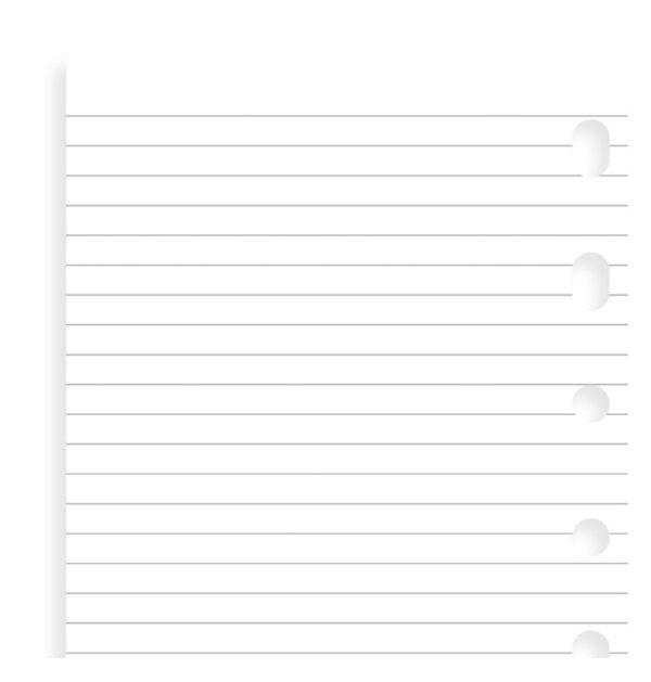 Блокнот Filofax в лінію, Pocket, white