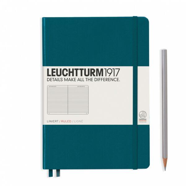 Блокнот Leuchtturm1917 середній, тихоокеанський зелений, лінія