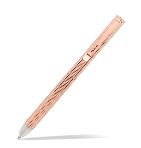 Кулькова ручка, що стирається, Filofax Clipbook Ballpen, Rose Gold