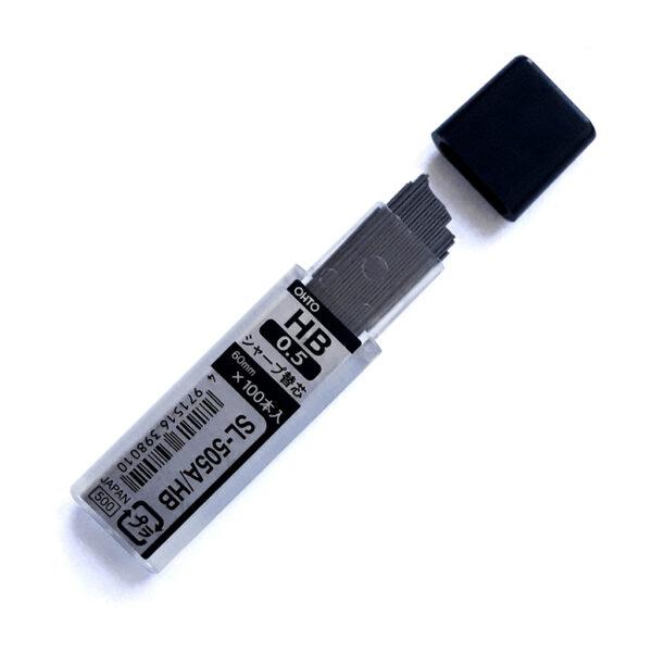 Запасні стрижні до механічного олівця OHTO 0.5, HB