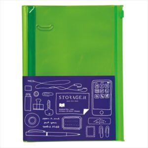 Блокнот STORAGE.it Solid Colors L, Зелений