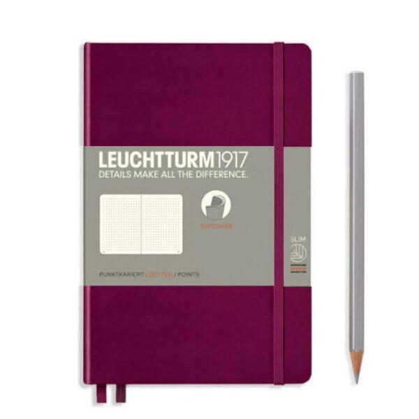 Блокнот Leuchtturm1917 Paperback (B6), М'яка обкладинка, Винний, Чисті аркуші