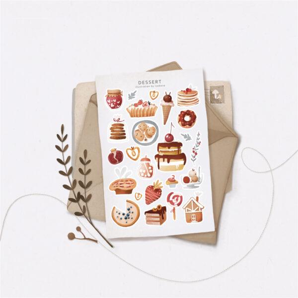 Стікери Vanilka Stickers, Desserts (папір)