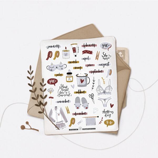 Стікери Vanilka Stickers, Girls Dreams (папір)