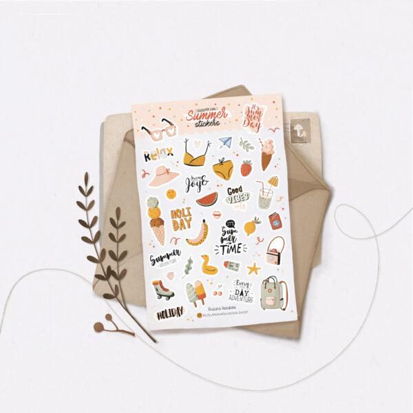 Стікери Vanilka Stickers, Summer (папір)