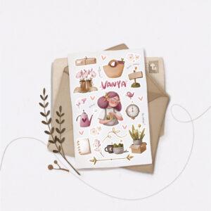 Стікери Vanilka Stickers, April mood (папір)