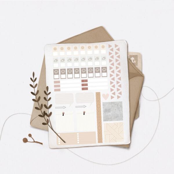 Стікери Vanilka Stickers, Planning set 3 (папір)