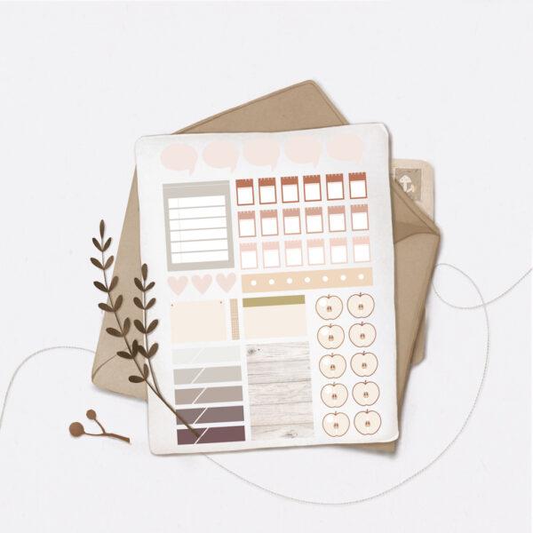 Стікери Vanilka Stickers, Planning set 4 (папір)