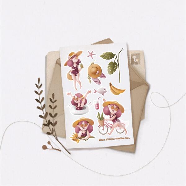 Стікери Vanilka Stickers, Літечко (папір)