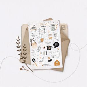 Стікери Vanilka Stickers, Zero Waste (папір)