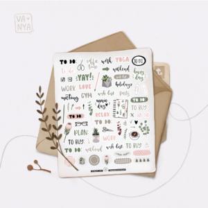 Стікери Vanilka Stickers, Bullet journal (папір)