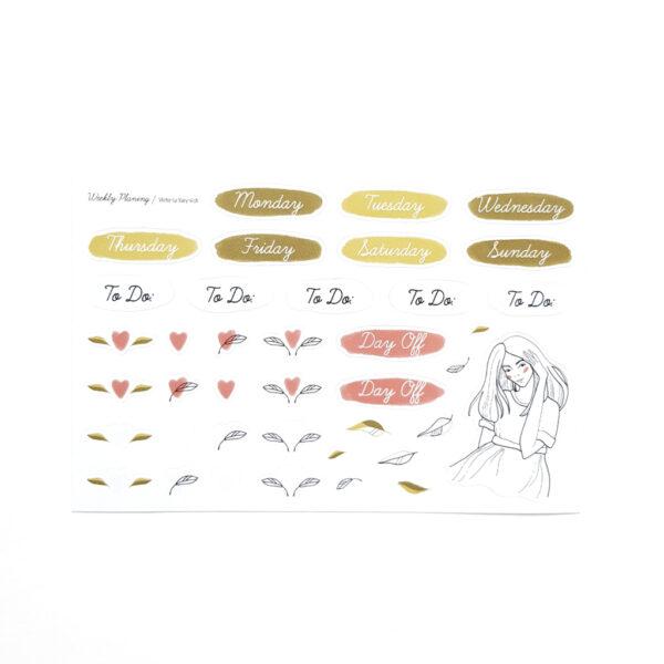 Стікери Vanilka Stickers, Watercolor flowers (прозорий вініл)