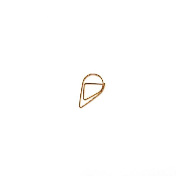Скріпка-крапелька, велика, золота, 5 шт